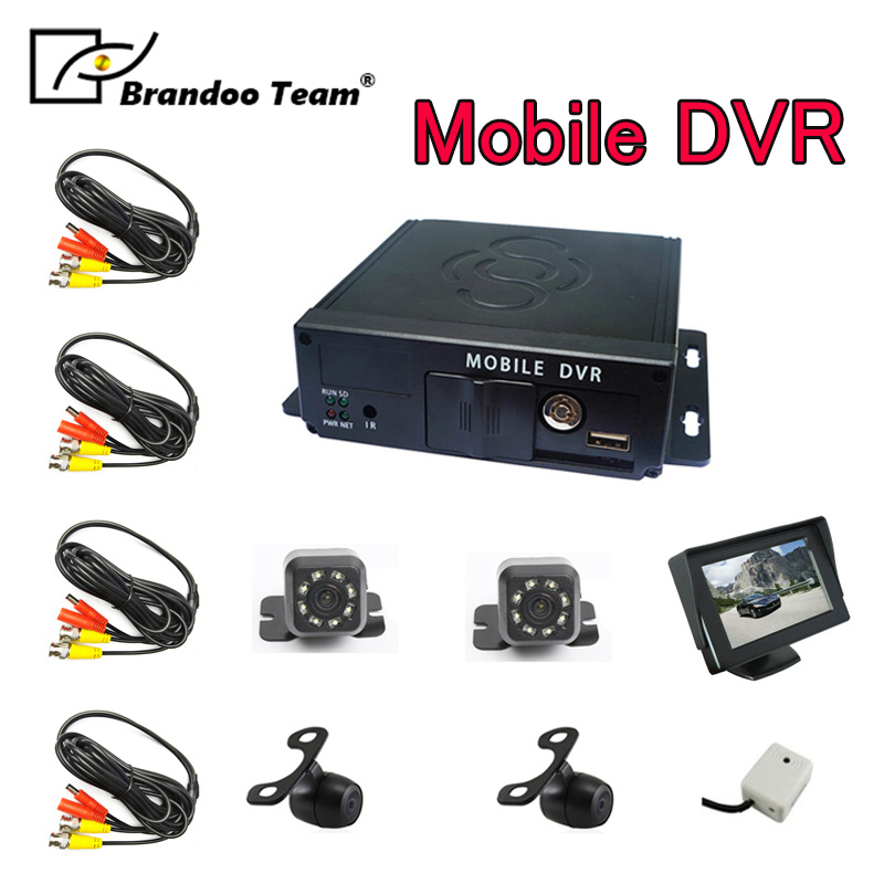 <font><b>4channel</b></font> Mobile DVR kit bus video recorder School Bus Taxi Trailer Truck Car <font><b>MDVR</b></font> image