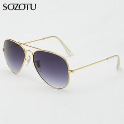 SOZOTU Aviation Sunglasses Women Men Classic Pilot Driver Sun Glasses For Female Male Ladies Brand Designer Oculos de sol YQ476