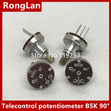 [BELLA]Imported Japanese Imperial Crown special spot 90 degree potentiometer B5K  small aircraft game 13mm-10PCS/LOT