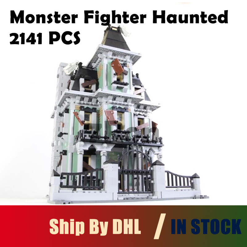 Model Building 2141Pcs City Monster Fighter Haunted House Kits Figure Blocks Bricks Toys hobbies Compatible with lego 10228 lepin 16007 2141pcs monster fighter the haunted house model set building kits model compatible with 10228 educational toys gifts