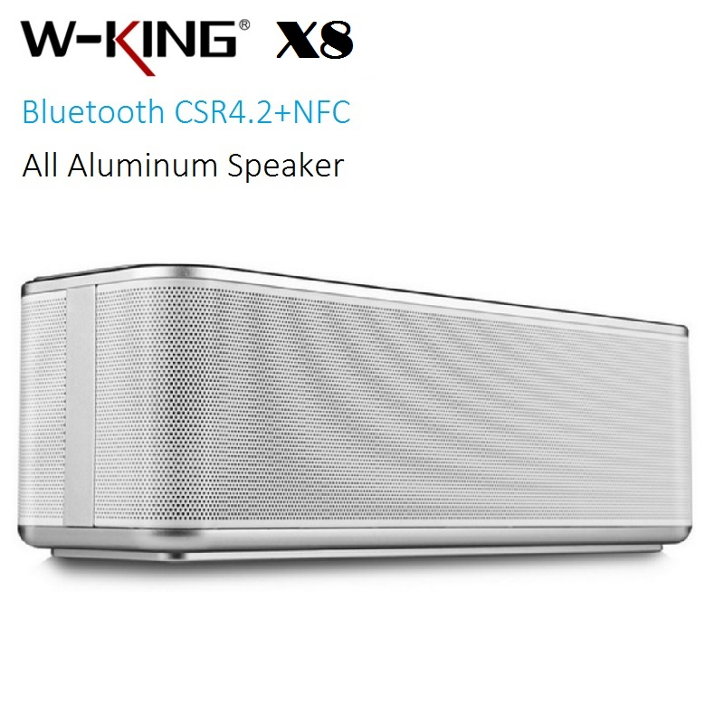 W-King X8 Super Bass Aluminum NFC Bluetooth Speaker Wireless stereo 16W sound box pk SL-1000S Flip pulse 2 CHR2 fashion nfc bluetooth speaker outdoor wireless usb waterproof stereo loudspeakers super bass speakers musics play for phone