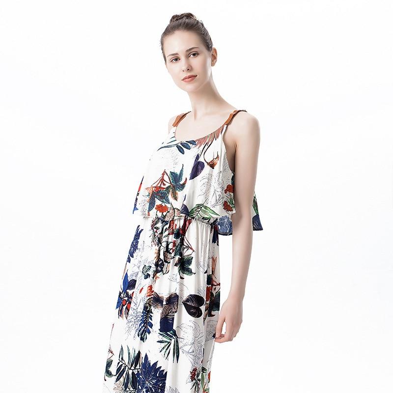 2017 Summer New Pattern Amazon Lotus Leaf Side Length European Printing Maam Dress Generation Hair