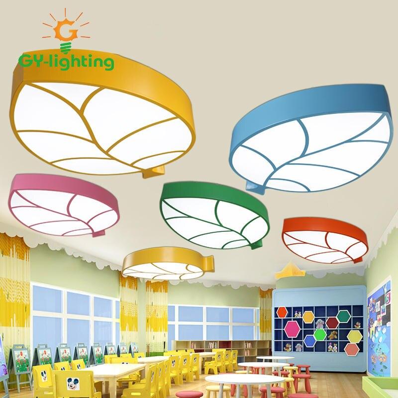 US $159.0 |Heißer Verkauf Cartoon LED Kinderzimmer lampe Blätter  Deckenleuchte Boy & Girl schlafzimmer Lichter kinderzimmer licht bunte  blätter ...