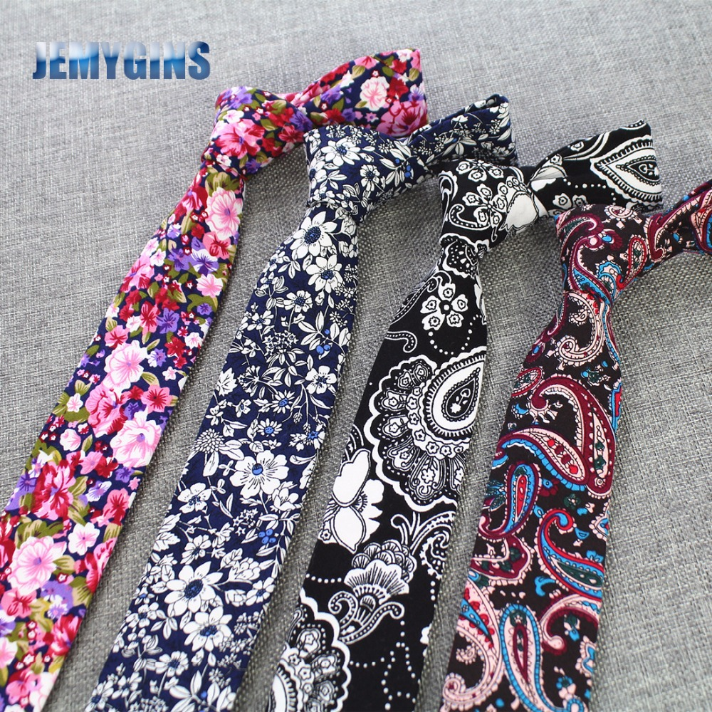 JEMYGINS Men Ties 100% Мақта 6см Ерлерге арналған Necsalie Caisal Paisley Tie Man For Bus Corbatas Bridegroom Party Slim Neckties