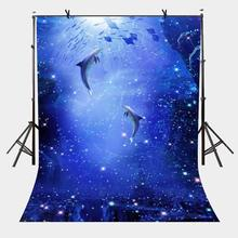 5x7ft Dark Blue Backdrop blue Ocean World Photography Background and Studio Props