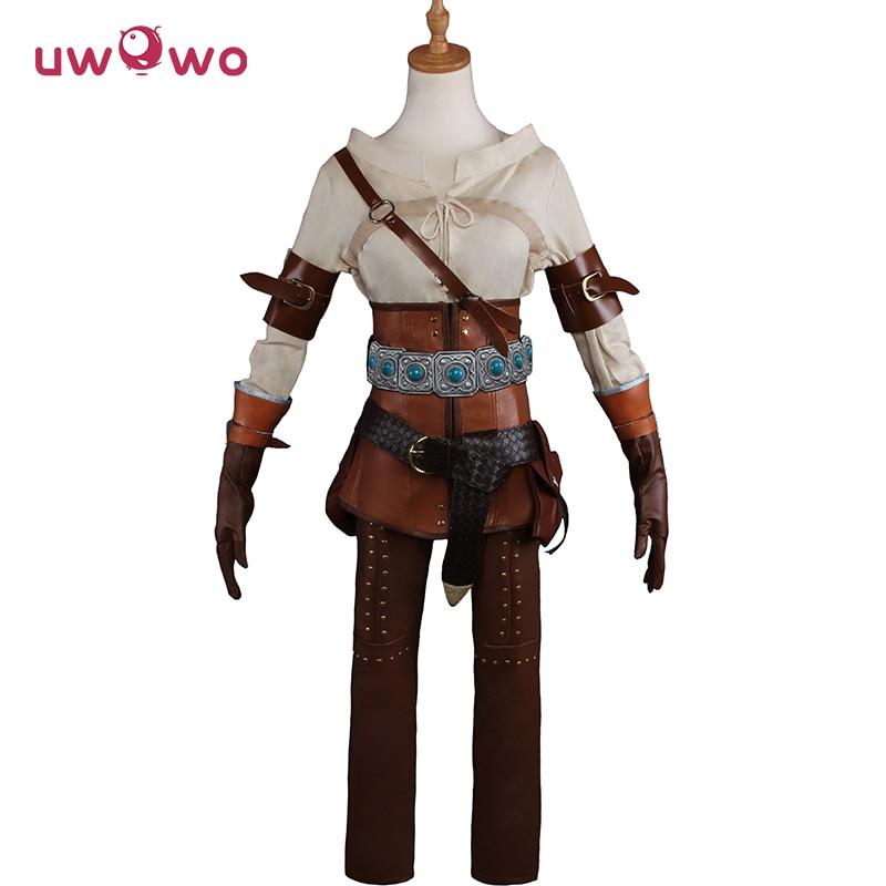 UWOWO DÉFECTUEUX COSTUME LIQUIDATION Cirilla Fiona Elen Riannon Cosplay The Witcher 3 Femmes Costume Jeu The Witcher Copslay Ciri