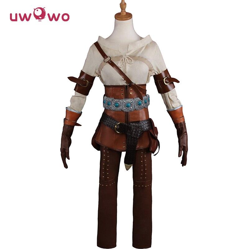 UWOWO deguisement défectueux Cirilla Fiona Elen Riannon Cosplay The Witcher 3 femmes COSTUME jeu The Witcher Copslay Ciri