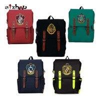 Gryffindor Slytherin Hogwarts College style backpack shoulder bag computer backpack around Harri Potter