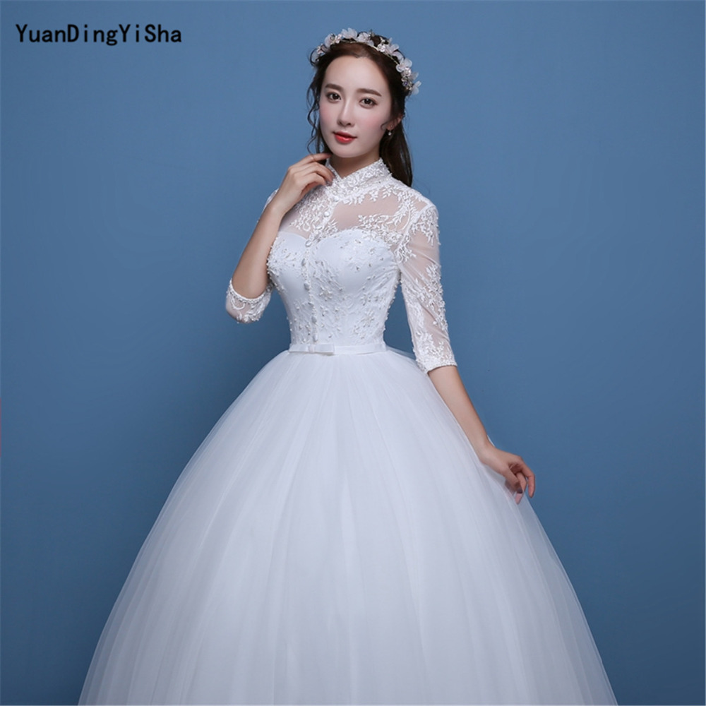 Aliexpress.com : Buy Real Photos A line Wedding Dress 2017 Lace And ...