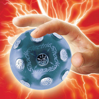 ABS Metal Electric Shocking Ball Novelty Toy X Mas Party Game Shock Glowing Ball Stress Relief