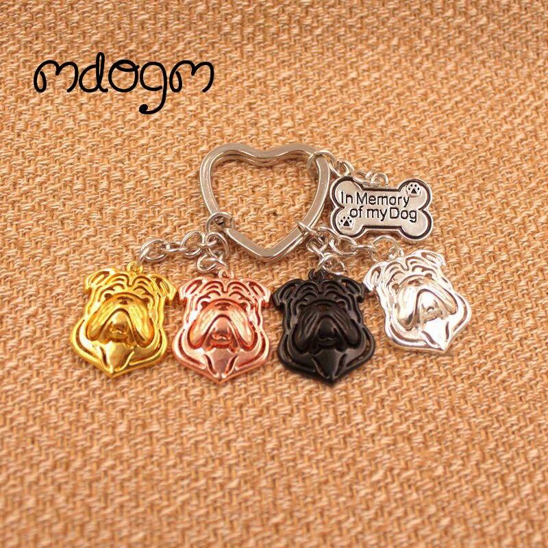 2019  English Bulldog Dog Animal Purse Handbag Charm Handmade Keychain For Bag Car Women Men Girls Key Ring Jewelry Cute K018