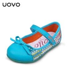 UOVO marque printemps et d'été enfants fille chaussures tissage princesse chaussures robe chaussures filles appartements chaussures rose et bleu couleur