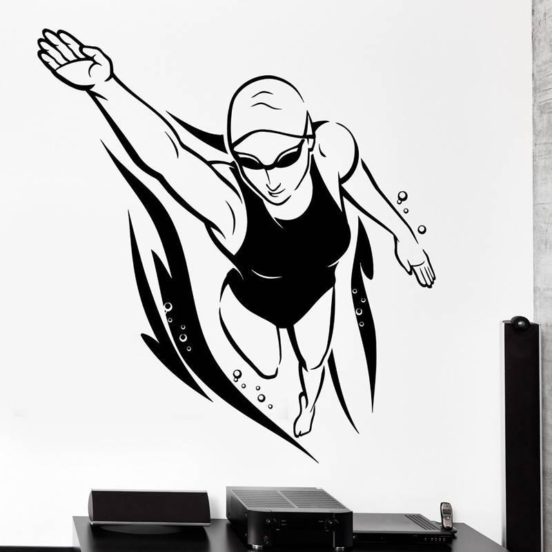 Aliexpresscom  Buy Swim Sticker Logo Name Swimmer Decal -8752