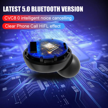 H&A TWS 5.0 Bluetooth 9D Stereo Earphone Wireless Earphones IPX7 Waterproof Earphones Sport Headphone With 4000mAh Power Bank 6