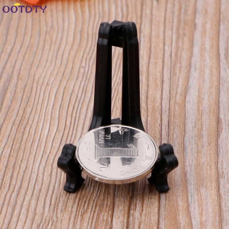 Collectibles Mini Black Plastic Coin Medal Gem Badge Golf Balls Post Card Easels Coin Display Stand Display Plate Holders