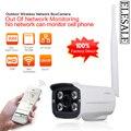 HD 720 P Câmera IP Wi-fi de Segurança Sem Fio Visão Noturna Infravermelha Impermeável Ao Ar Livre P2P Home Security Elesale