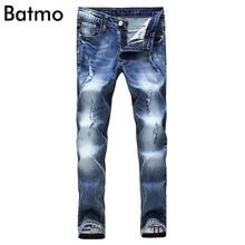 2017 new style Ankle Length Pants fashion Jeans hole section jeans men s casual pants Men