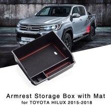 Caixa de Armazenamento De braço para Toyota Hilux 2015 2016 2017 2018 Bandeja de Console Central