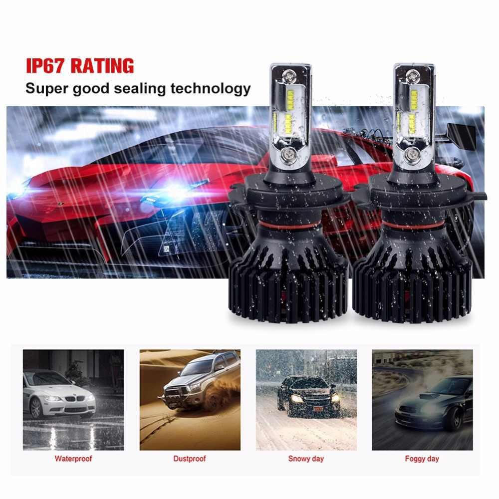 Aceersun H4 Hi-Lo Beam H7 H11 9005 9006 LED Car Headlight Bulbs 6500K 12v 24v ZES Chip 72W 16000LM Led Auto Headlamp Fog Light
