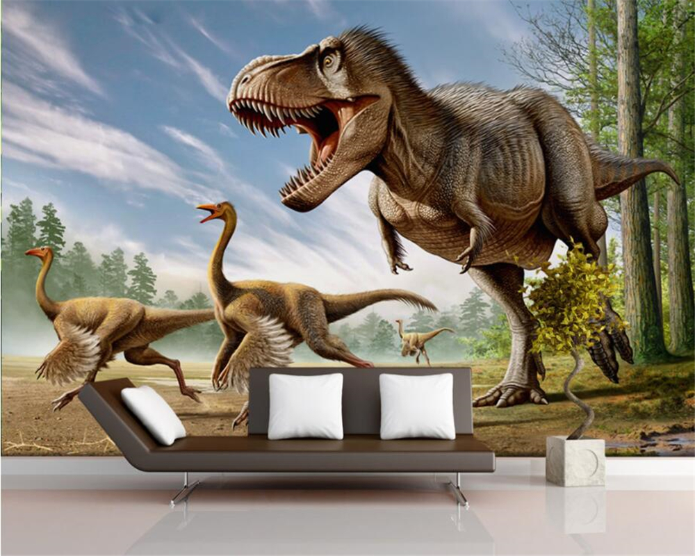 beibehang Custom Wallpaper Home Decorative Mural 3D Dinosaur Backdrop Kids Room TV Sofa Background Mural 3d wallpaper for walls custom baby wallpaper snow white and the seven dwarfs bedroom for the children s room mural backdrop stereoscopic 3d