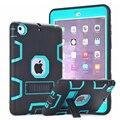Case for ipad mini 3 2 1 retina safe kids armadura resistente a prueba de golpes cubierta dura del silicón case w/protector de pantalla de cine y Stylus