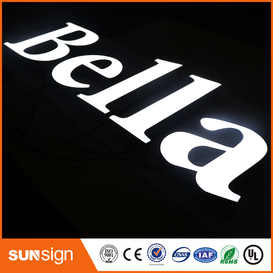 High Quality Advertising Acrylic Frontlit Led Channel Letter Sign