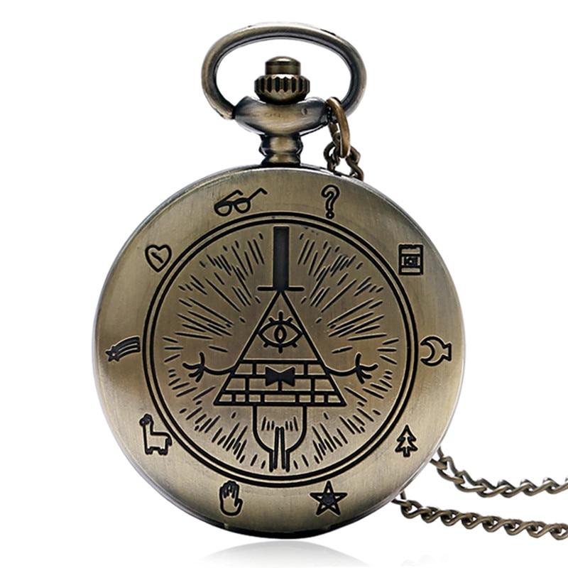 Uhren Vintage Uhren Kompass Hohl Design Bronze Quarz Taschenuhr Männlich Weiblich Weiß Zifferblatt Fob Retro Uhr Mann Frau Geschenk