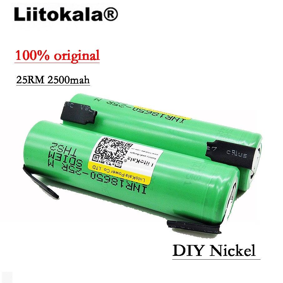 100 PCS Liitokala INR1865025R Novo 18650 Original
