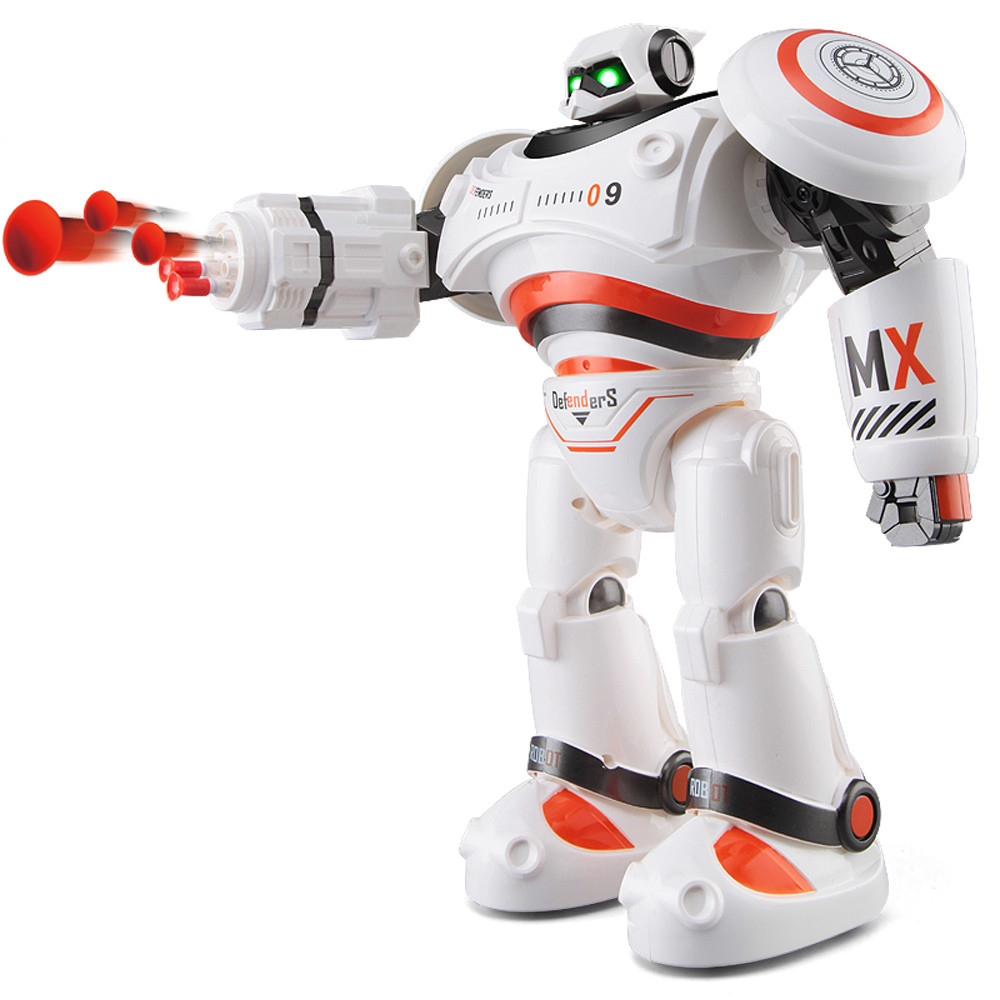 JJRC cool two colorful R1 Intelligent Programmable Walking Dancing Combat Defenders RC Robot Armor Battle Robot july19 P23 r1 intelligent rc robot programmable walking dancing combat defenders armor battle robot remote control toys for child gifts