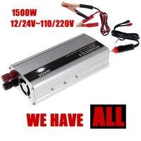Hurtownie samochodów konwerter Zasilania USB ładowarka DC 12 24 V AC 110 220 V 1500 W Zmodyfikowana Sinusoida ładowarka USB