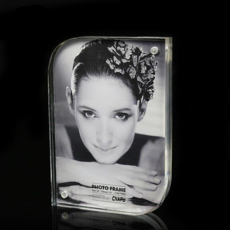7 zoll Klar doppelseitiges acryl bilderrahmen mit magneten portrait ...