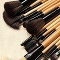 Alta Qualidade Pro Kit De Pincel Para A Beleza Das Mulheres 18 PCS corar Pincéis de maquiagem Natural Do Cabelo de Lã Jogo de Escova Cosmético maquiagem kit