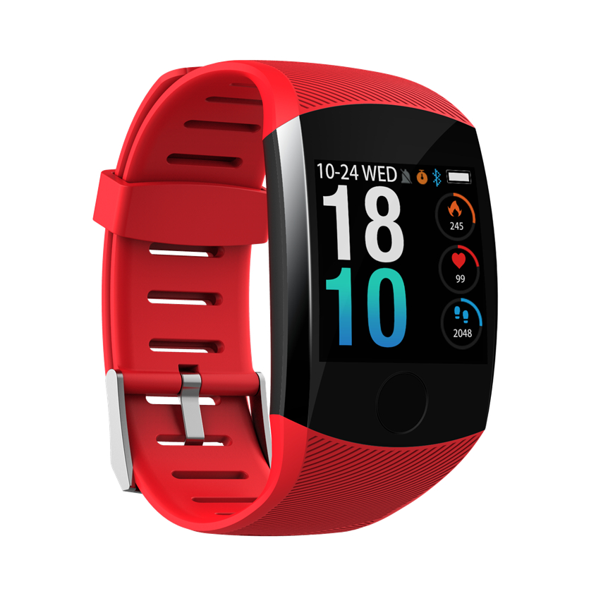 Q11 Smart Watch Waterproof Big Touch Screen OLED Message Heart Rate Time Smart band Fitness Activity Tracker Bracelet Wristband