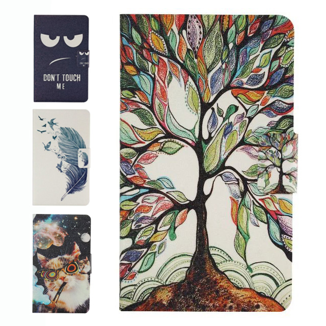 Fashion Painted Cover for Samsung Galaxy Tab A 7.0 Ultra Thin Slim Case for Sunsung T280 High Quality PU Leather Flip Case Funda