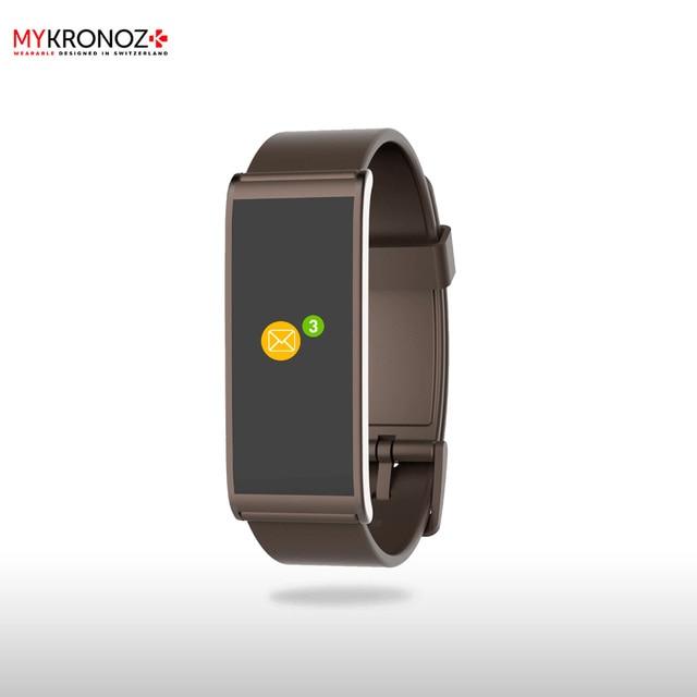 Фитнес-трекер MyKronoz ZeFit4HR цвет коричневый/коричневый