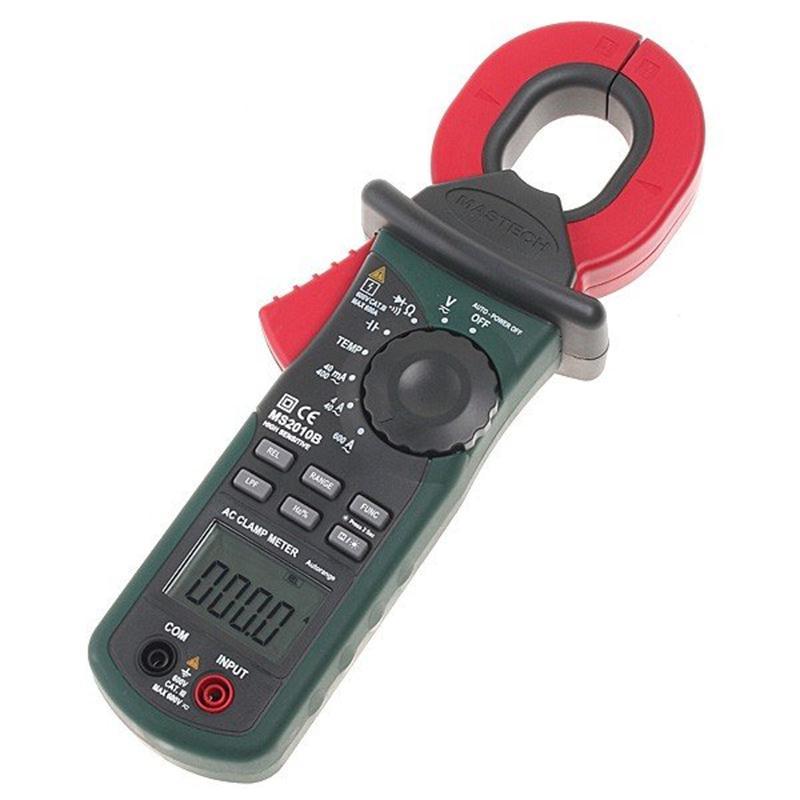 MASTECH MS2010B Digital Clamp Meter AC/DC Mini Handheld Tensão Corrente Resistência Tester Multímetro Multimetro com Cabos de Teste - 2