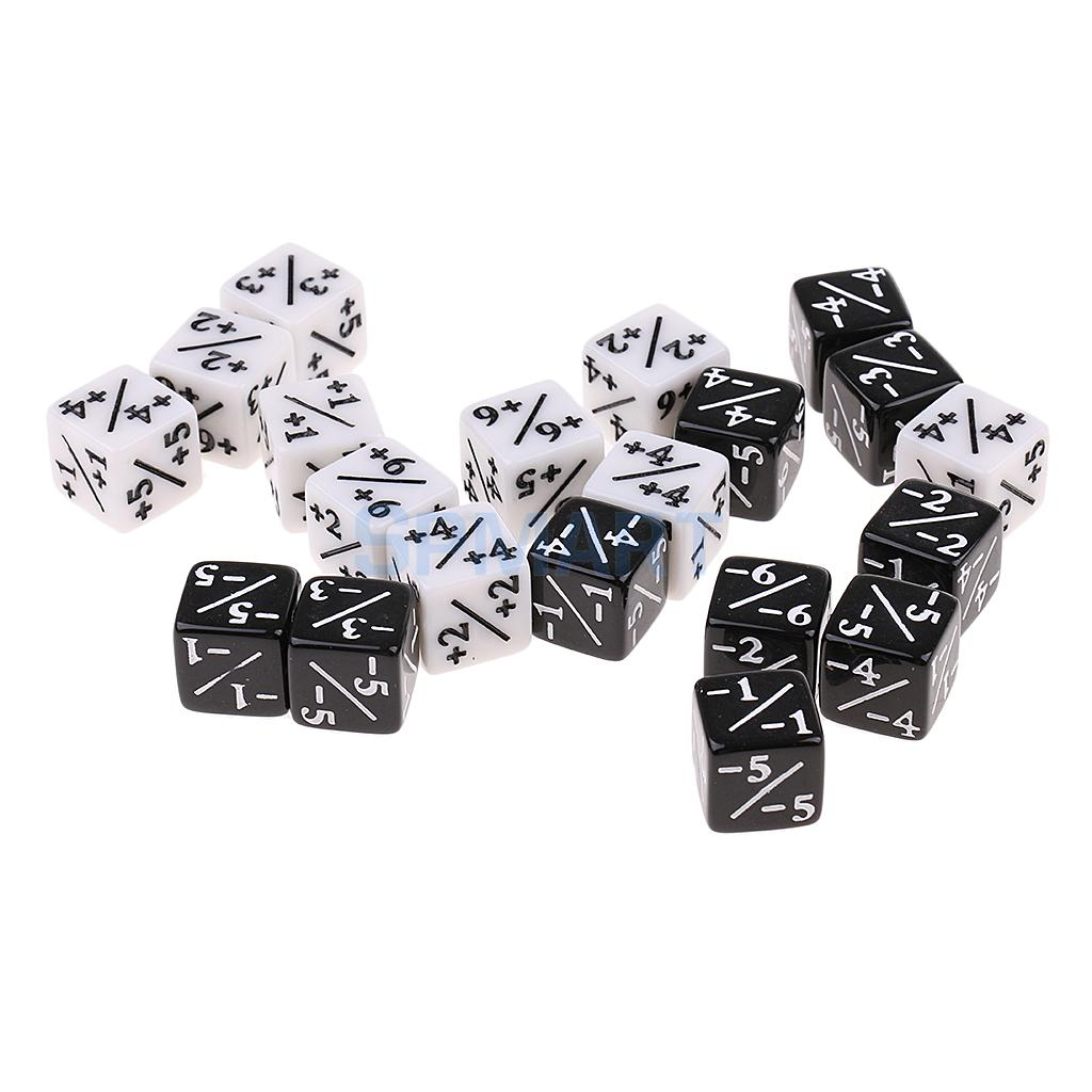 20x Six Sided Fraction Dice For Addition Subtraction