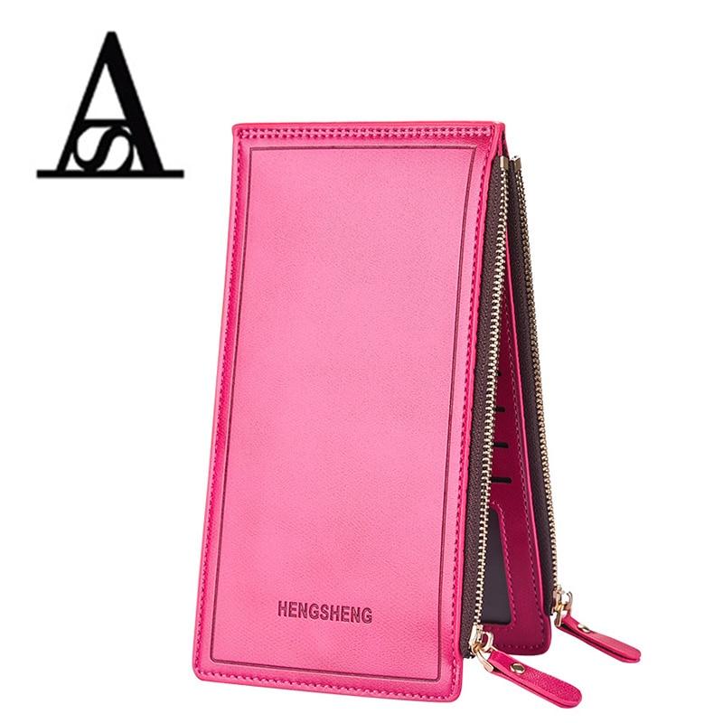 Aitesen new multifunction fashion multiple cards holder PU leather wallets wallet rfid portefeuille femme grande capacite