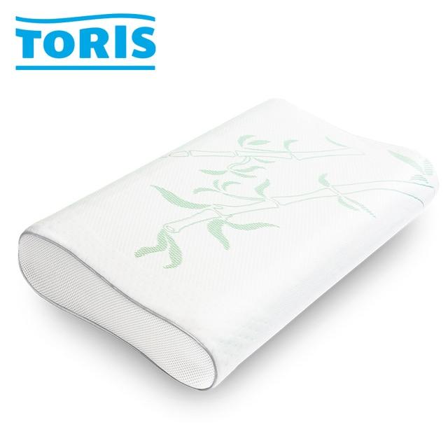 """TORIS Elegiya П.95 Ультракомфортная подушка из вязкоэластичной пены уникальной запатентованной формы """"4 в 1"""", Идеально подходит для людей, предпочитающих спать на боку, Трехмерная система вентиляции, Размер XL"""