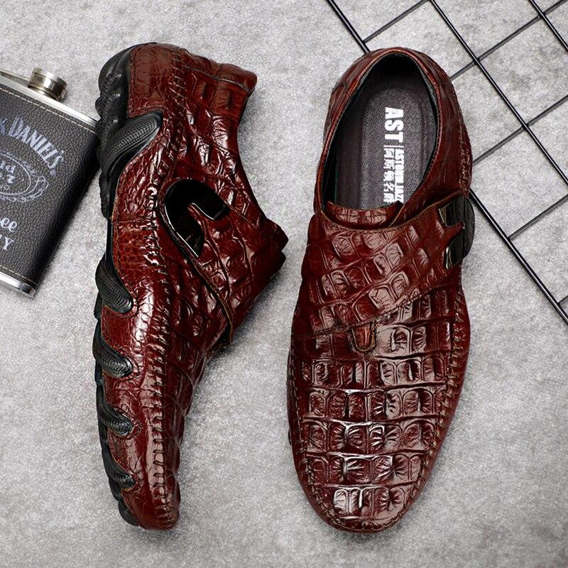 Losver Mens Dress Shoes Microfiber Lace-up Mocassin Brown 7.5D US M