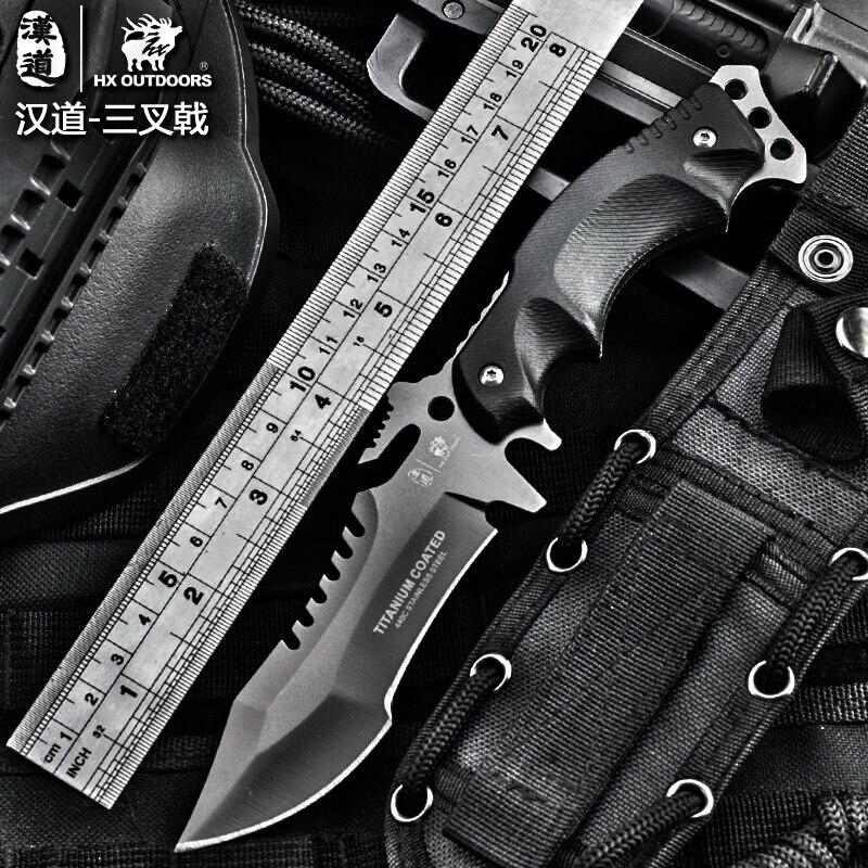 Jagd Camping Überleben Rettungs Outdoor Axt Kopf G10 Griff Trskt Multifunktionale Axt Sammlung Werkzeug