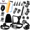 Free shipping Gopro Accessories Set Floating Hand Grip Monopod  Bags car bracket Go pro Hero 5 5S 4 3+ SJ xiaomi yi  cameraGS10