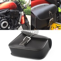 Free Shipping New Black PU Leather Motorcycle Luggage Right side Saddle Bags Rider Motorbike Panniers For Harley Sportster 883