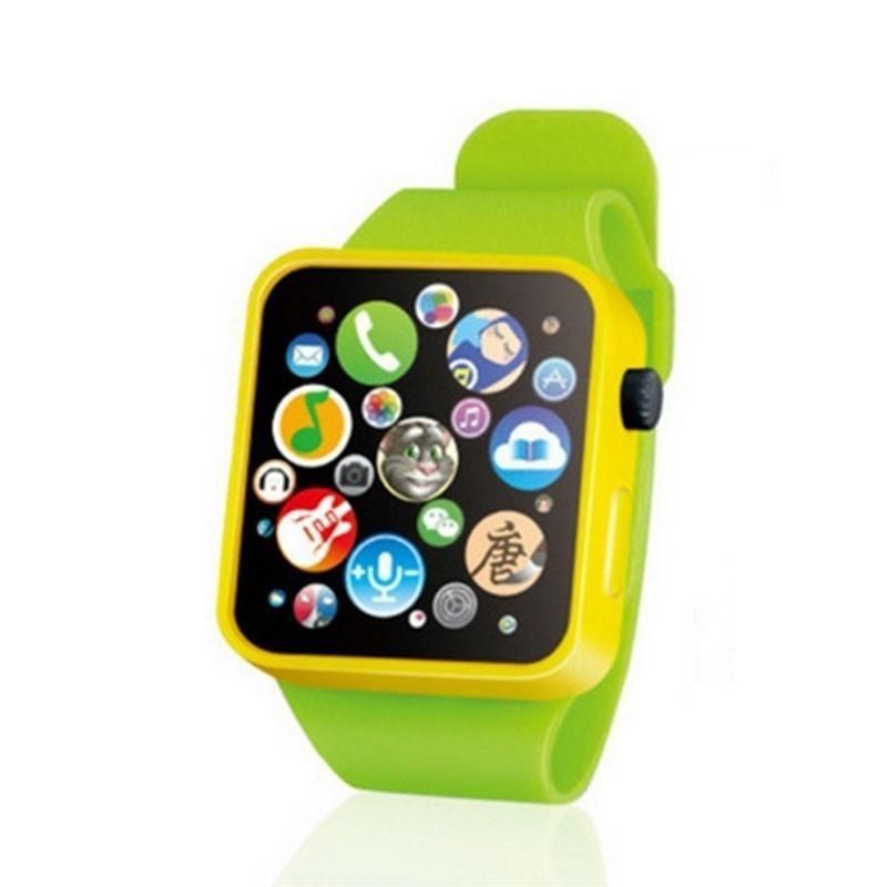 Детские Игрушки для раннего образования, наручные часы, 3D сенсорный экран, музыкальное умное обучение, горячая Распродажа, подарки на день рождения, 3 цвета - Цвет: Зеленый