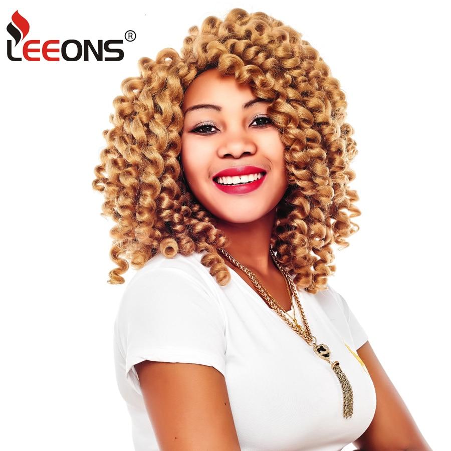 Jamaica Hair Color: Leeons 8 Colors Kanekalon Hair Blonde Curly Crochet Hair