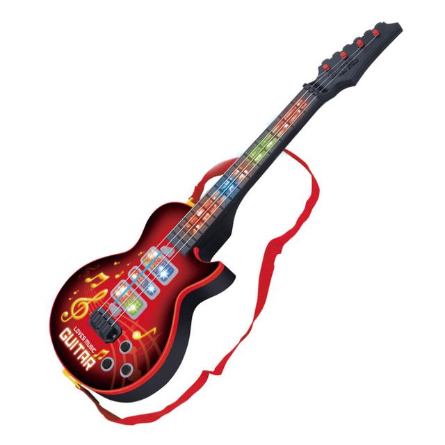 Hiqh Calidad 4 Cuerdas Música Niños Guitarra Eléctrica Instrumentos Musicales Juguetes Educativos Para Niños juguetes Como Regalo de Año Nuevo