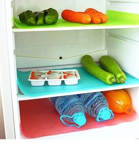 Image 3 - 4Pcs/set Fashion Refrigerator cover Antibacterial Antifouling Mildew Moisture Absorption Pad Refrigerator Waterproof Mats WYQ
