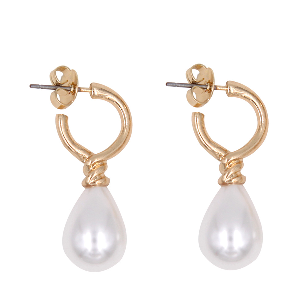 Classique Teardrop Perles Dangle Boucles D'oreilles Princesse Diana - Bijoux fantaisie - Photo 1
