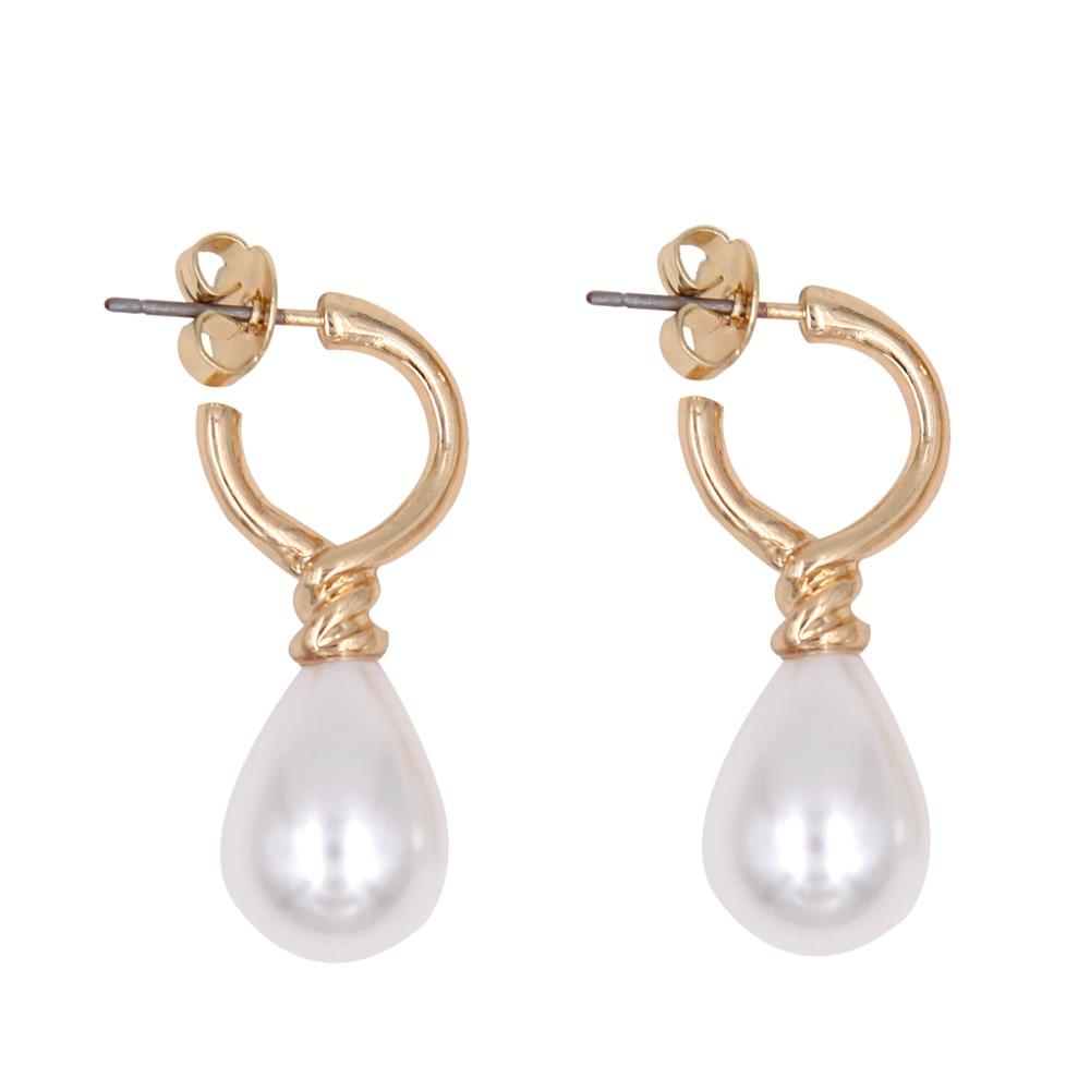 Klassiska teardrop-pärlor dinglar örhängen Prinsessan Diana Vintage mode smycken kvinnor tillbehör present