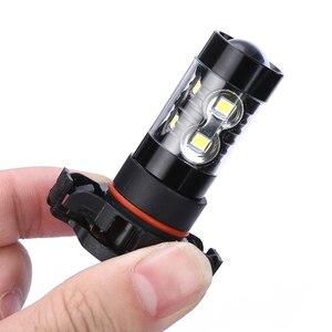 Image 4 - 2pcs PSX24W 2504 자동차 LED 안개 조명 전구 화이트 자동 운전 낮 시간 실행 램프 50W 6000K